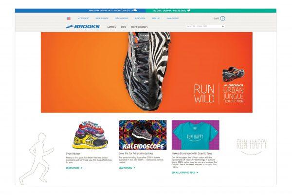BrooksRunning.com Homepage Banner